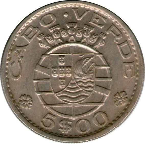 Spg Cabo Verde Portugues 5 Escudos 1968