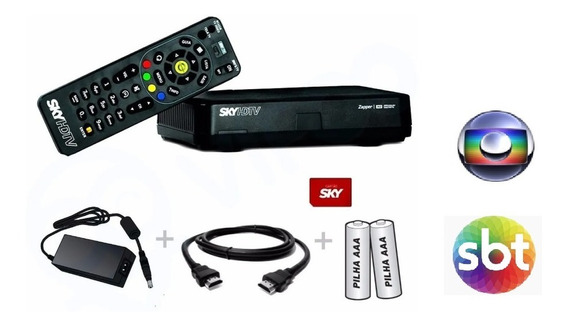 Receptor Sky Pré-pago Flex Hd + Habilitação + Recarga