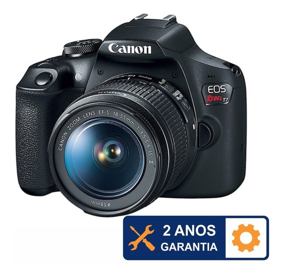 Canon Rebel T7 Kit 18-55mm Is Ii 24.1mp Wi-fi 2 Anos Garanti