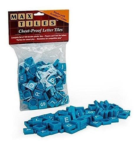 El Scrabble Teja Las Tejas Azules Plasticas 100pc Perfectas