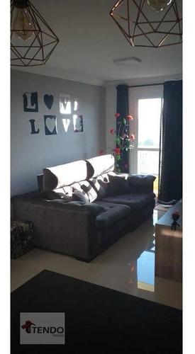 Apartamento Com 2 Dormitórios À Venda, 62 M² Por R$ 350.000 - Vila Nossa Senhora Das Vitórias - Mauá/sp - Ap2278