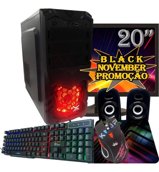 Computador Gamer Black Barato / Ssd120gb / 8gb /tela 20