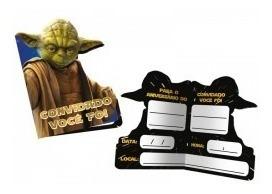 Convite Pequeno Star Wars Clássico - 8 Unidades