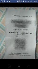 Boletos Premiere Avengers Endgamer
