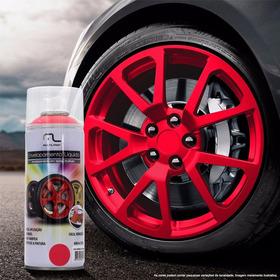 Spray Envelopamento Líquido Vermelho Fluor 400ml Au424