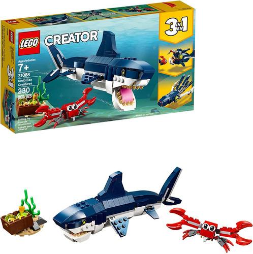 Lego Creator 3 En 1 Deep Sea Criatures 31088 Tiburón 230pzas