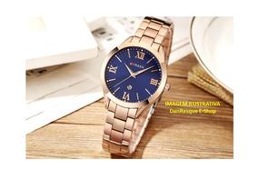 Relógio Curren 9007 Feminino Rosé Gold Com Caixa