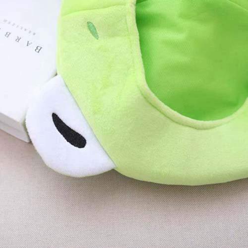 Gorro de Invierno con dise/ño de Rana de Peluche Amosfun Color Verde