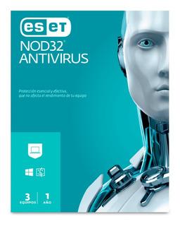 Eset Nod32 Antivirus 5 Usuarios, 1 Año De Vigencia (caja)