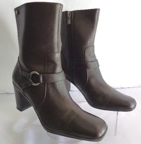 Botas Tommy Hilfiger Nro.38 Cuero Color Marron