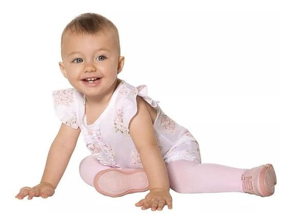 Meia Calça Bebê Infantil Fio 80 Lobinha Bb 5 M A 2 Anos 2576