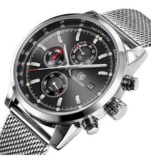 Benyar 5102_reloj Malla Acero_elegante_calidad_crono 1/10