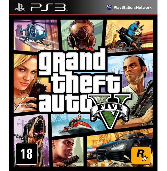 Gta 5 V Grand Theft Auto 5 V Ps3 Português Lacrado Rcr Games