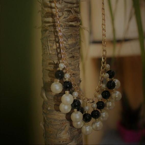 Collar Con Perlas De Cristal.