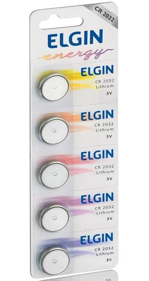 Bateria Cr2032 Elgin 3v (cartela Com 5 Unidades)