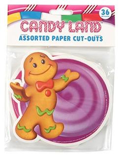 Recortes De Papel Surtidos De Eureka Candy Land, 12 Cada Uno