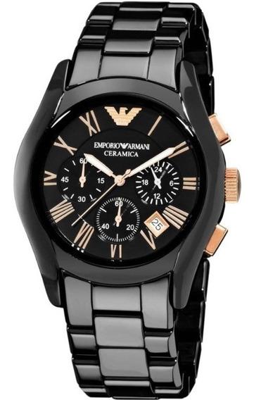 Relogio Armani Ar1410 Cronografo Ceramica Original Eua