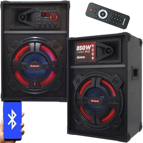 Caixa De Som Amplificada Amvox 850w Aca 1212 New X Bluetooth