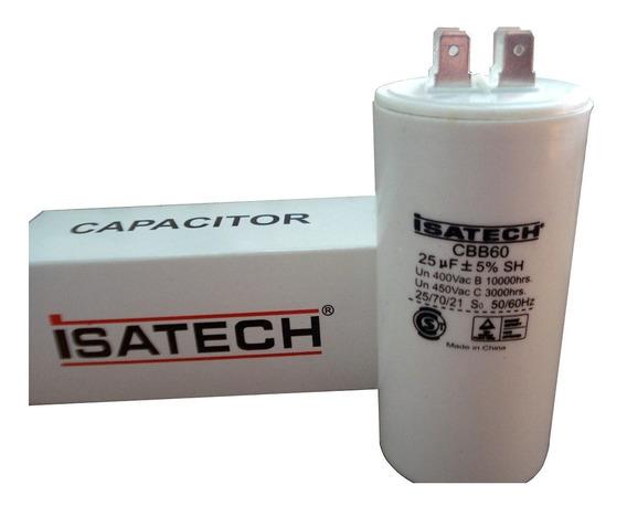 Capacitor De Marcha 25uf Microfaradios 400v 50/60hz Isatech