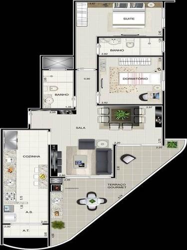 Apartamento - Venda - Caicara - Praia Grande - Dna935