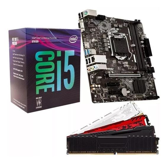 Kit Placa Fonte Real 500w + Mãe 8ºgeração + Processador I5 8400 + Memoria 8gb