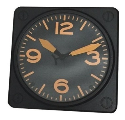 Relógio De Parede Laranja Black Plastico 31x31 Cm