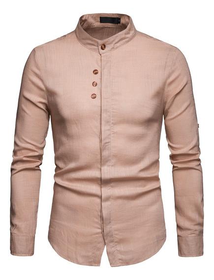 Camisa Manga Larga Camisa Casual Alta Calidad