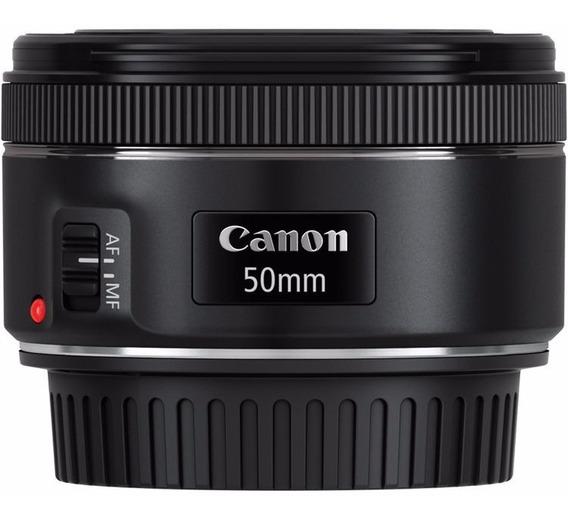 Lente Canon Ef 50mm F/1.8 Stm + Nfe + Garantia Canon Brasil