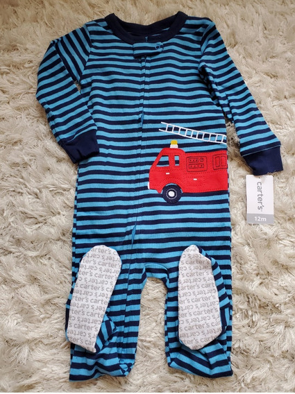 Macacão Pijama Bebê Menino Antiderapante - Original Carters