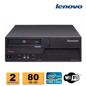 2 Cpu Desktop Lenovo Core 2 Duo 2gb Ddr3 Hd 80gb Leitor Wifi