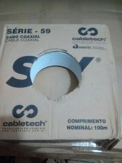 3 Caixas 100mts Cada De Cabo Rg59 - Logo Sky - Novos