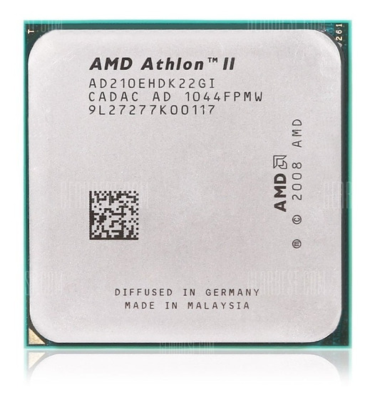 Amd Athlon Ii 210e Dual-core Am3 2.6ghz + Pasta Termica