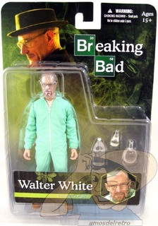 Figura Walter White Breaking Bad Blue Hazmat Suit Mezco Adr