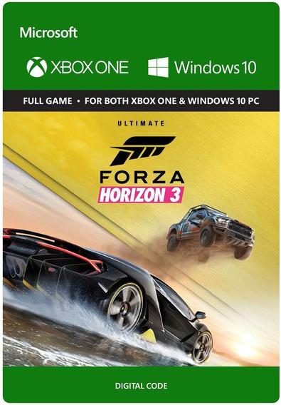 Forza Horizon 3 Ultimate Xbox One Código Oficial