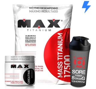 Mass Titanium 3kg + Creatina + Shaker - Max Titanium