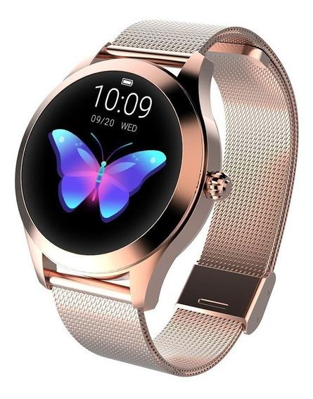 Relógio Inteligente Kingwear Kw10 Smartwatch Mulheres