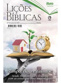 Kit Ebd C/ 13 Revistas Aluno + 3 Professor - 3º Tri / 2019