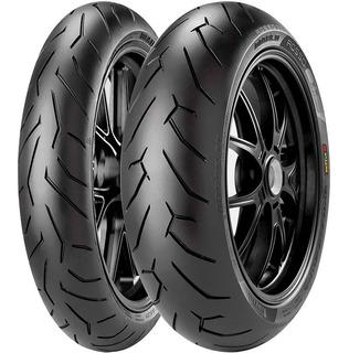 Juego Combo Pirelli Diablo Rosso 2 Rouser Ns 200 Anchas Fas