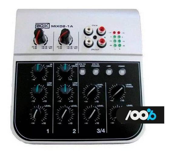 Mesa De Som Boxx Mix 02 Com 4 Canais