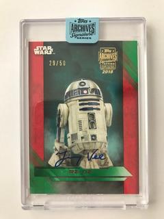 Autógrafo De R2d2 Star Wars Certificado Topps