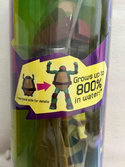 Kit Com 4 Tartarugas Ninja Que Crescem 800%
