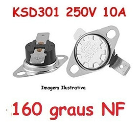 Termostato Ksd301 160 Graus Normal Fechado 250v 10a