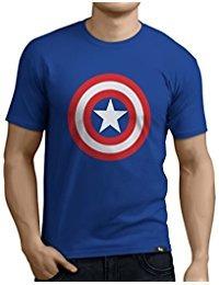 Camiseta Hombre Superheroes América Para Capitán SzUMpqV