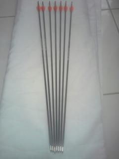 Kit De 12 Frechas Tiger Spine 500+brinde De 3 Pontss De Caça