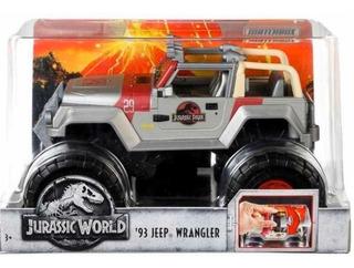 Jurassic World 93 Jeep Wrangler Matchbox Nuevo 230cp