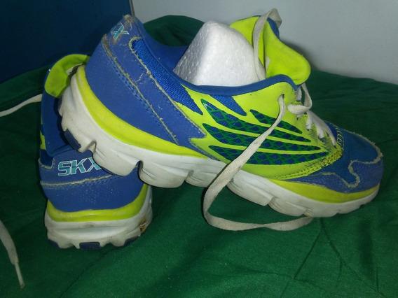 Zapatos Skechers Para Niño Talla35 Usados