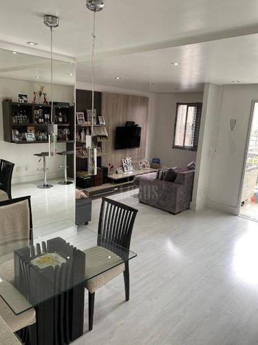 Imagem 1 de 17 de Apartamento De 72m² Composto Por 2 Dormitórios 1 Suíte, À Venda R$ 410.000,00 - Vila Santa Luzia - Taboão, Sbc/sp - Ap1383