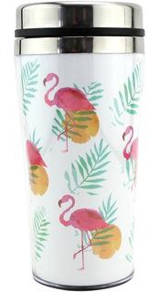 Copo Térmico Estampado Inox Flamingo