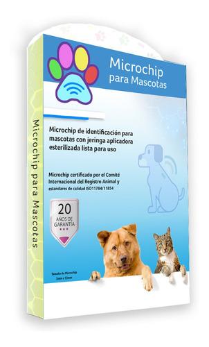 Imagen 1 de 10 de Microchip Para Mascotas - Animales / Certificado Y Pasaporte