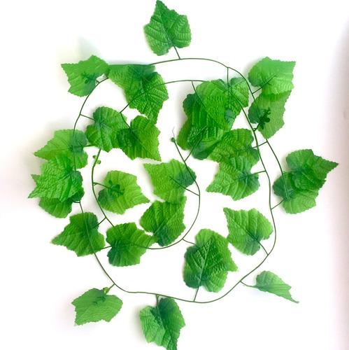 Planta Artificial Con Hojas Para Decorar X 6 Unidades